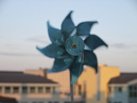 Paper wind wheel with Vienna in background - LFF000177
