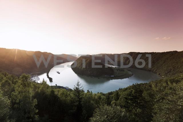 Austria, View of danube river at dusk - MSF002405
