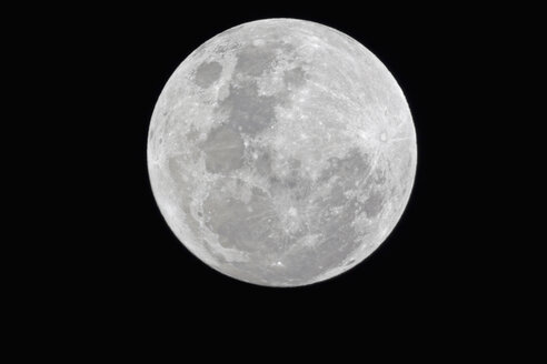 Africa, Namibia, Etosha National Park, Fullmoon in sky at night - FOF002533