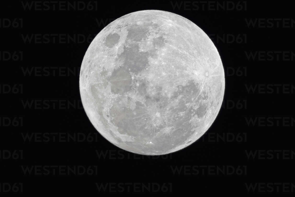 Africa, Namibia, Etosha National Park, Fullmoon in sky at night - FOF002533 - Fotofeeling/Westend61
