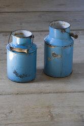 Austria, Mondsee (city), Old milk cans - WW001665