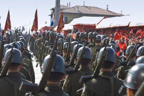 Turkey, Izmir, View of military parade - HK000293