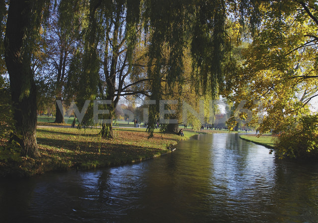 Germany, Munich, View of english garden with canal - WBF000183