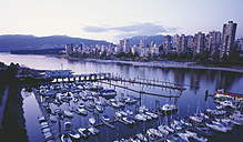 Canada, British Columbia,Vancouver, View of city with harbour - WBF000210