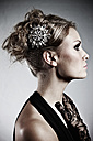 Young bride in modern dress looking away - MF000421