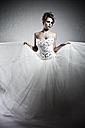 Young bride in modern dress, portrait - MF000427