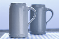 Beer mugs, close up - ASF004253