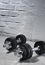 Pair of dumbells, close up - WBF000457