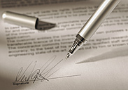 Pen with signature on contract - WBF000454