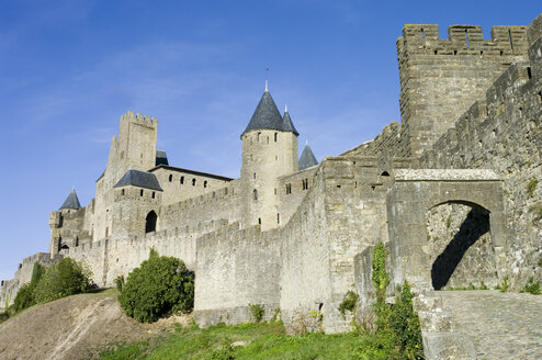 France, Aude, View of Carcassonne castle - MU000968