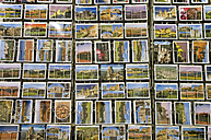 France, Aude, Carcassonne, Variety of postcards in rack - MUF000972