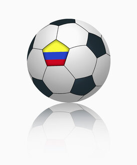Colombian flag on football, close up - TSF000035