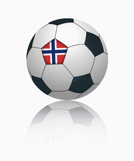 Norwegian flag on football, close up - TSF000041