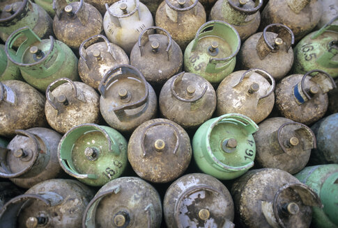 Jordan, View of old gas cylinders - PMF000868