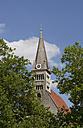 Germany, Bayern, Laufen, View of abbey church - WWF001826