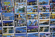 Italy, Puglia, Apulia, Gargano, Vieste, Variety of postcards in stand - TCF001396