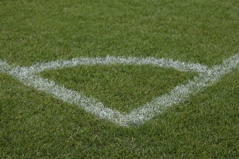 Europe, Germany, View of corner marking on soccer field - TCF001429