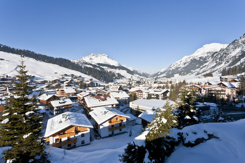 Austria, Vorarlberg, View of lech am arlberg - WDF000851