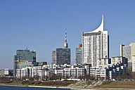 Austria, Vienna, Donauturm, View of skyline and tower - MBEF000074