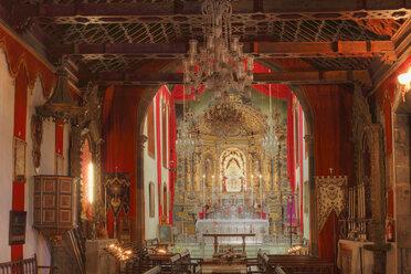 Spain, Canary Islands, La Palma, View of las nieves pilgrimage church - SIE000747