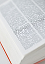 Open encyclopedia, close up - WBF000897