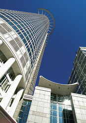 Germany, Frankfurt, View of bank with skyscraper - WBF001029