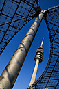 Germany, Bavaria, Munich, View of olympic tower from stadium - PS000431