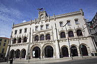 Portugal, Lisbon, View of rossio train station - PSF000451