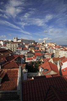 Portugal, Lisbon, View across old town of alfama - PSF000453