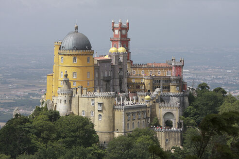 Portugal, Estremadura, Sintra, View of pena national palace - PSF000459