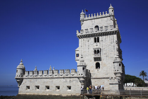 Portugal, Estremadura, Lisbon, View of tower of belem - PSF000460