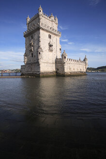 Portugal, Estremadura, Lisbon, View of tower of belem - PSF000471