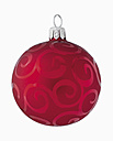 Christmas bauble against white background, close up - WBF001114