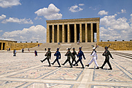 Turkey, Cappadocia, Ankara, Anitkabir, Changing of the guards at mausoleum of kemal ataturk - PS000498