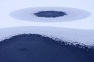 Germany, Upper Bavaria, Irschenhausen, Snow and ice on frozen pond - TCF001452