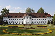 Germany, Bavaria, Swabia, Allgaeu, Kempten, View of Orangerie at Hofgarten gardens - SIE001638