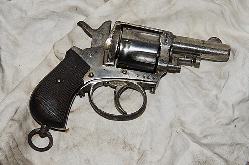 Close up of revolver - AWD000626