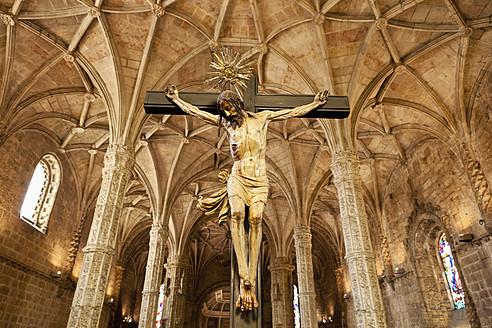 Europe, Portugal, Lisbon, Crucifix at Hieronymites Monastery - FO003470