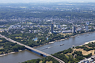 Europe, Germany, North Rhine-Westphalia, Bonn, Aerial view of Konrad-Adenauer-Bridge - CS015275