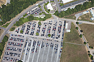 Europe, Germany, North Rhine-Westphalia, Godorf, Aerial view of car park near refinery plant - CS015283