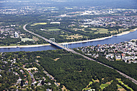 Europe, Germany, North Rhine-Westphalia, Aerial view of Rodenkirchen bridge over Rhine - CS015295