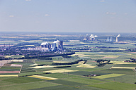 Europe, Germany, North Rhine-Westphalia, Neurath, Niederaussem, Aerial view of lignite surface mining power plants - CS015304