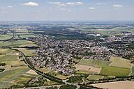 Europe, Germany, North Rhine-Westphalia, Grevenbroich, Garzweiler, Aerial view of lignite surface mining - CS015319