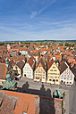 Germany, Bavaria, Franconia, Rothenburg ob der Tauber, View of market place at cityscape - WDF000992