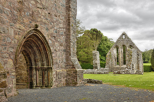 United Kingdom, Northern Ireland, County Down, View of ruined Grey Abbey - SIEF001741