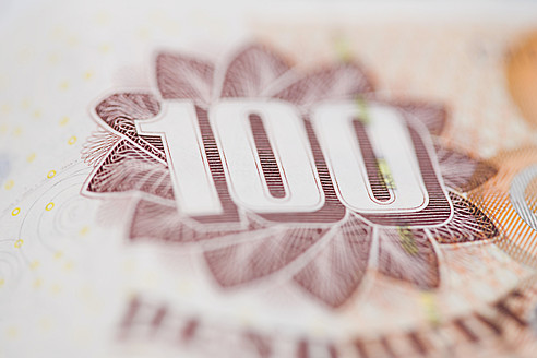 Danish krone note, close up - HKF000459