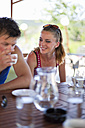 Italy, Tuscany, Young couple having coffee - HSIF000138