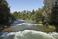 Germany, Bavaria, Upper Bavaria, Mangfall Valley, Valley Borough, View of Mangfall river - SIEF001813