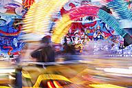 Germany, Bavaria, Franconia, Wuerzburg, Fairground rides in kiliani fair - SIEF001870