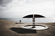 Israel, View of public shower at beach - TL000578